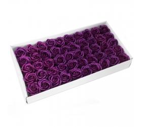 Mydlové Kvety - Stredná Ruža - Tmavá Fialová