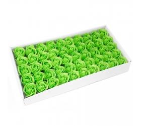 Mydlové Kvety pre Šikovné Ruky - Stredná Ruža - Zelená