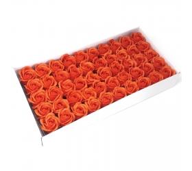 Mydlové Kvety pre Šikovné Ruky - Stredná Ruža - Tmavá Oranžová