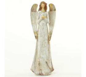 Anjel s holubicou béžový