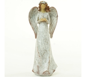 Anjel s holubicou béžový glitter