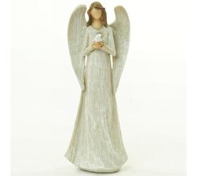 Anjel s holubicou biely