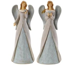 Anjel sivé krídla mix 14 x 8,5 x 36,5 cm