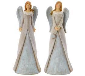 Anjel sivé krídla mix 8 x 5 x 20 cm