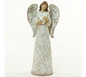 Anjel so srdcom béžový glitter