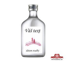 Svadobná fľaštička s alkoholom 100 ml SF409