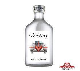 Svadobná fľaštička s alkoholom 100 ml SF514