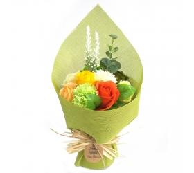 Stojaca mydlová kytica - zelená a žltá