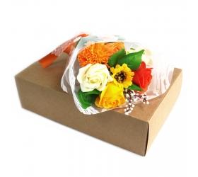 Mydlová kytica v krabici - oranžová