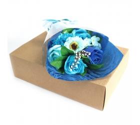 Mydlová Kytica v Krabici - Modrá