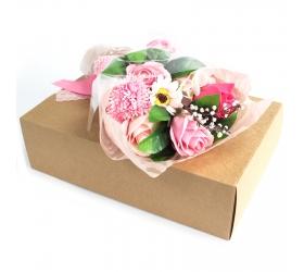Mydlová Kytica v Krabici - Ružová