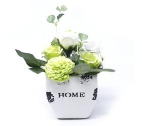 Malá mydlová kytica v kvetináči - zelená