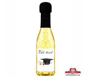 Promočné mini šampanské 200 ml so zlatom PM6