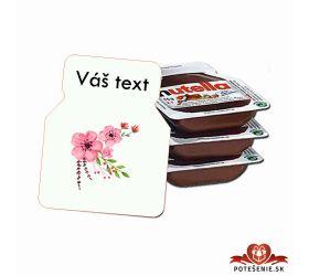 Svadobná mini Nutella, motív S011