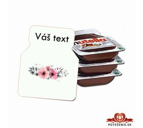Svadobná mini Nutella, motív S012