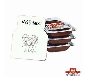 Svadobná mini Nutella, motív S016