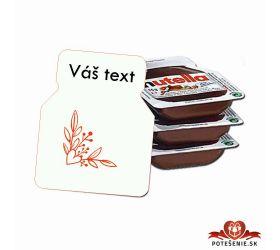 Svadobná mini Nutella, motív S018