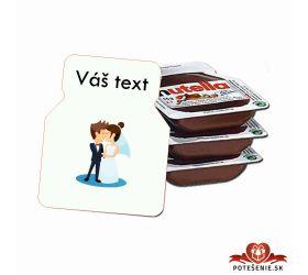 Svadobná mini Nutella, motív S020
