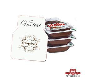 Svadobná mini Nutella, motív S109
