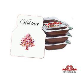 Svadobná mini Nutella, motív S161