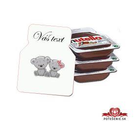 Svadobná mini Nutella, motív S347