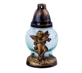 Náhrobná sviečka sklo - anjel