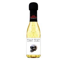 Halloweenske šumivé víno so zlatom - 009
