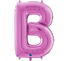 Balón písmeno B ružové 66 cm