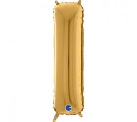 Balón písmeno I zlaté 66 cm