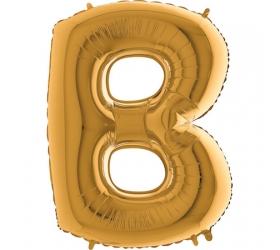 Balón písmeno B zlaté 100 cm