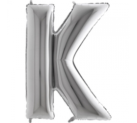 Balón písmeno K strieborné veľké