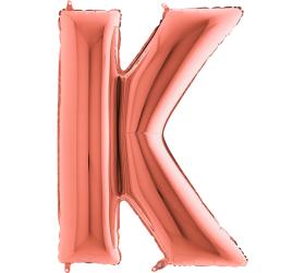 Balón písmeno K rose gold veľké