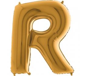 Balón písmeno R zlaté 100 cm