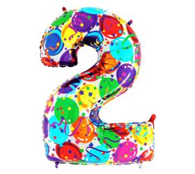 Balón číslo 2 balóny 35 cm
