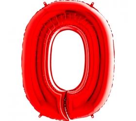 Balón číslo 0 červené 66 cm