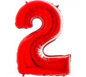 Balón číslo 2 červené 66 cm