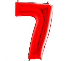 Balón číslo 7 červené 66 cm