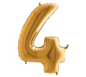 Balón číslo 4 zlaté 100 cm
