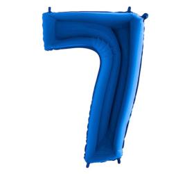 Balón číslo 7 modré 100 cm