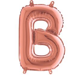 Písmeno B rose gold malé