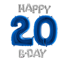 Set 20 modrá / strieborná