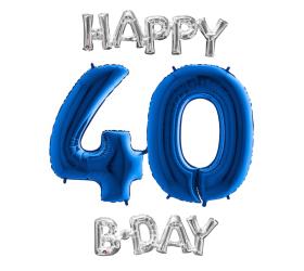 Set 40 modrá / strieborná