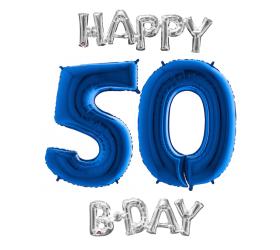 Set 50 modrá / strieborná