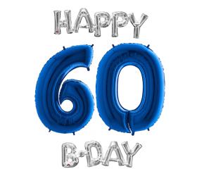 Set 60 modrá / strieborná