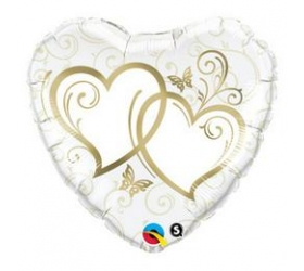 Balón na Svadbu - Q Entwined Hearts Gold