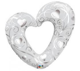 Balón na Svadbu - Q Hearts & Filigree Pearl
