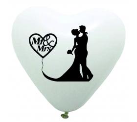 Mr & Ms srdce biele