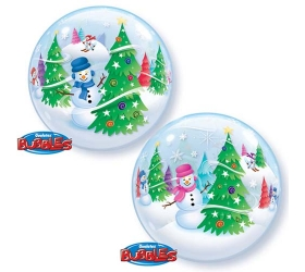 Q Bubbles Christmas Tree & Snowman