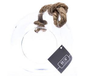 Vianočná ozdoba závesná sklenená guľa 13cm