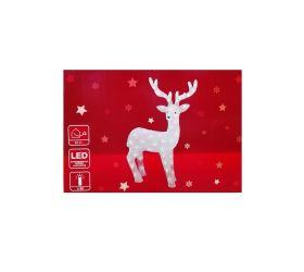 Vianočný svietiaci Jeleň 80 LED 74cm akryl